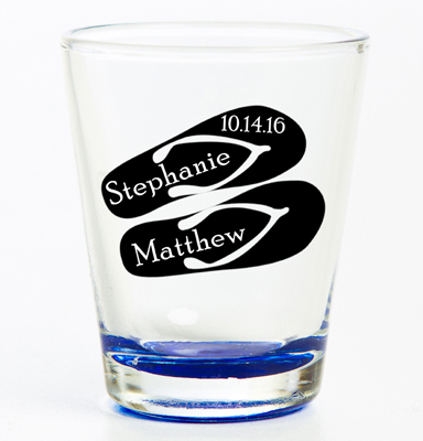 Personalized Coloured Flared Shot Glass Print Canada Store
