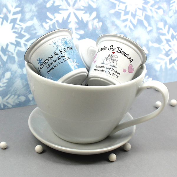 Wedding Party Gifts Canada: Personalized K-Cup Coffee Favors