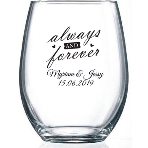 Large Stemless Wine Glass 15 Oz Printed Print Canada Store