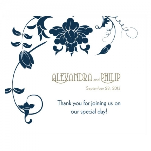 Floral Orchestra Rectangular Label | Print Canada Store