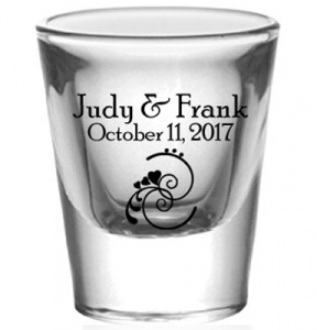 Personalized 1oz Flared Shot Glass Print Canada Store
