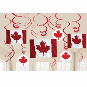 Canada Day Value Pack Foil Swirl Decorations Print Canada Store
