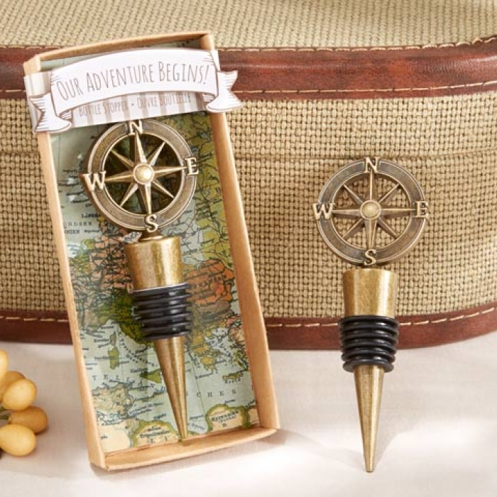 """Wedding Party Gifts Canada: """"Our Adventure Begins"""" Bottle Stopper"""
