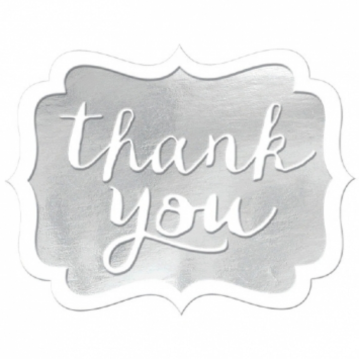 Thank you stickers silver print canada store