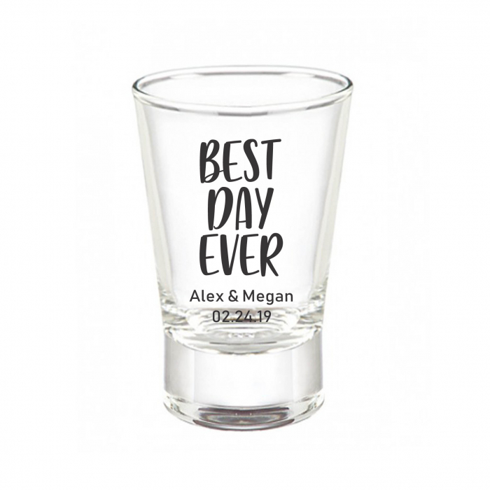 Personalized 2oz Flared Shot Glass Print Canada Store