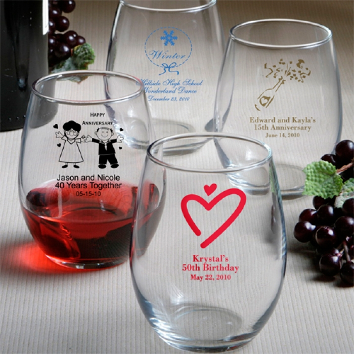 Personalized Stemless Wine Glasses Print Canada Store