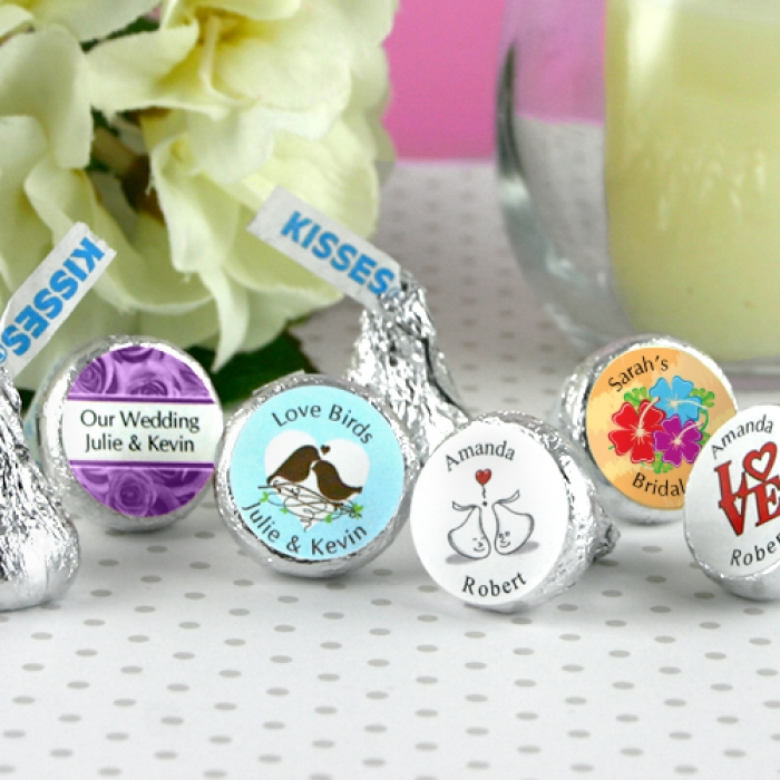 Wedding Party Gifts Canada: Personalized Hershey's Kisses